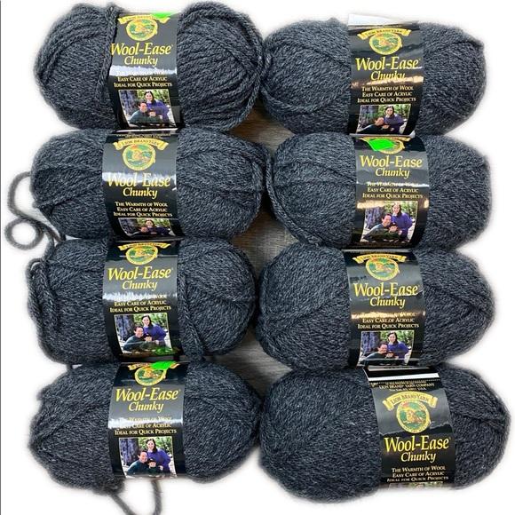 Lion Chunky Wool-Ease Yarn Charcoal Gray 152